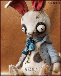 READY to SHIP Alla Bears artist OOAK Halloween art doll Bunny teddy bear decor