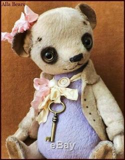 READY to SHIP Alla Bears artist OOAK Vintage teddy bear doll home office decor
