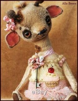 READY to SHIP Alla Bears artist Vintage Giraffe Teddy OOAK Japaneses anime