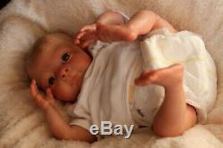 REBORN BABY DOLL BEAN 16 PREMATURE BY ARTIST OF 9yrs MARIE SUNBEAMBABIES GHSP