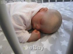 REBORN BABY DOLL PREEMIE 16 PREMATURE MEGAN BY ARTIST OF 6yrs DAN SUNBEAMBIES