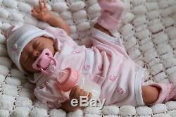 REBORN BABY GIRL DOLL PREEMIE 16 PREMATURE ARTIST OF 9yrs MARIE (Outfit varies)