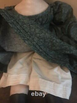 REDUCED-Izannah Walker artist doll by Shari Lutz -20, antique doll reproduction