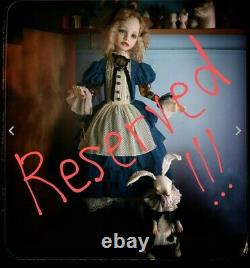 RESERVED! Art Doll Handmade by an artist Porcelain doll moving doll