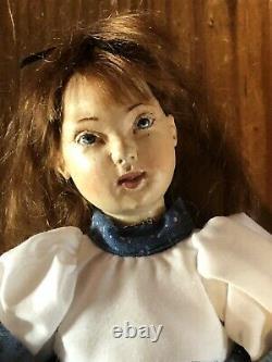 Rare Artist ROBERT NEUENSCHWANDER Wood Jointed Girl Doll dated'96