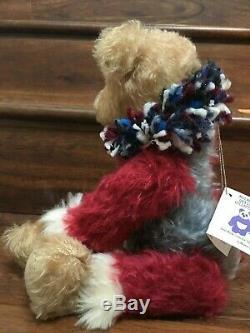 Rare ROCKET Artist TEDDY BEARS Multi Mohair Star Flag Patriot OOAK/LE Custom 15
