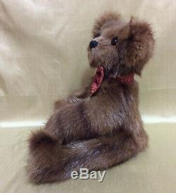 Real Mink Fur Teddy Bear- Handmade, fully jointed and glass eyes