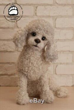 Realistic toy Oscar, Poodle Dog, Toy Poodle, Poodle, Felted Animal, Gift