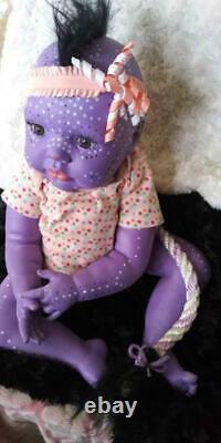 Reborn Alternative Artist Doll Alien Avatar Mythical Fantasy Baby