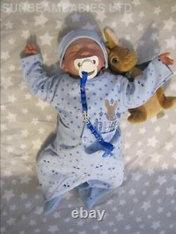 Reborn Baby Boy 5lbs 18 Floppy Lifelike Doll By Artist Dan / Sunbeambabies Ghsp