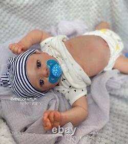 Reborn Baby Boy Doll Alfie 20 5lb (aka Aofie) by UK Artist Sara Jeffery