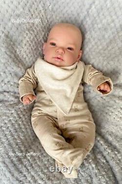 Reborn Baby Boy Doll Theodore, 18 newborn by UK Artist BabyDollArtUK Sara
