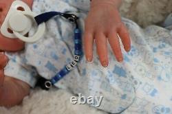 Reborn Baby Doll Blue Eyes Paisley D Pratt Nice Box Opening Artist 9yrs Marie