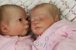 Reborn Baby Dolls Realborn Owen Twins, By Artist Of 9yrs Marie Textured Skin