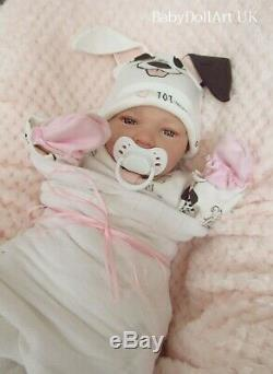 Reborn Baby GIRL Doll, Newborn 18 Awake Baby Roxie 4lbs, UK ARTIST