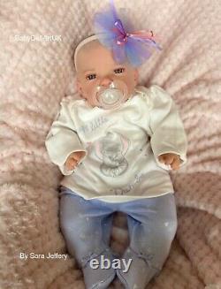 Reborn Baby Girl Doll Arianna, newborn baby girl by UK Artist #BabyDollArtUK