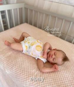 Reborn Baby Girl Doll Bonita COA Phil Donnelly by UK Artist Sara Jeffery NEWBORN