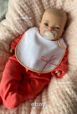 Reborn Baby Girl Doll Chloe, newborn baby girl By UK Artist BabyDollArtUK