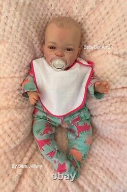 Reborn Baby Girl Doll Erin, Beautiful baby girl 18 UK Artist BabyDollArtUK