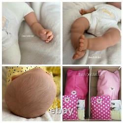 Reborn Baby Girl Doll Mia, sleeping baby girl by UK ARTIST #BabyDollArtUK Sara