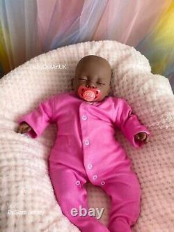 Reborn Baby Girl Doll Paige, 18 ethnic reborn doll by UK Artist BabyDollArtUK