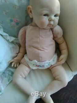 Reborn Baby Girl Doll Paris Artist Sculpt by Adrie Stoete