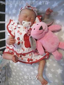 Reborn Baby Girl Leah Now Lily Floppy Lifelike Doll /artist Dan / Sunbeambabies