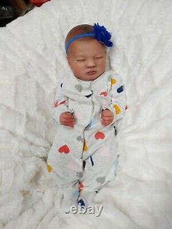 Reborn Baby Girl Realborn Laila Biracial Ethnic Doll by Artist Mandy Hannon