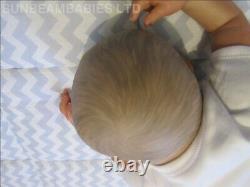 Reborn Baby Girl Sky Floppy Lifelike Doll / By Artist 6 Yrs Dan / Sunbeambabies