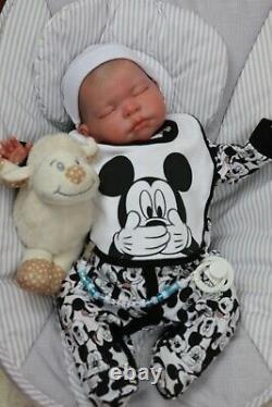 Reborn Baby Heavy Chunky Boy Doll Darcy, Full Limbs, Artist 9yrs Sunbeambabies