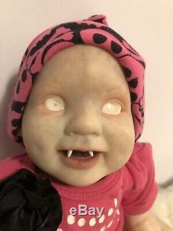 Reborn Fantasy Albino Vampire Baby OOAK 18 Punkin From BB Artist Gingerlynn