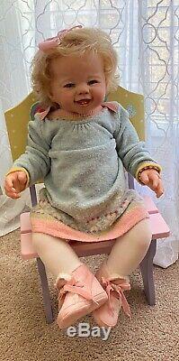 Reborn Kenzie, toddler by Sandy Faber, CUSTOM by artist Kory Fann