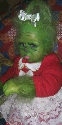 Reborn hybrid GREEN CHRISTMAS YETI BABY ARTIST doll alternative mythical GRINCH