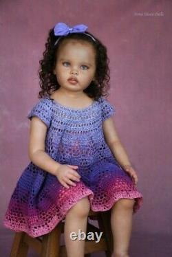 Reborn toddler biracial realistic art doll by prototype artist Anna Sheva IIORA