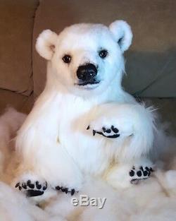 SALE Huge Realistic OOAK (24) Artist Polar Bear Flinn by OsoMIMosO