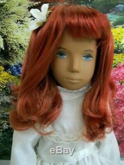 Sasha Doll OOAK Artist Repaint w Frido style Eyes custom dyed multi-tone Redhead