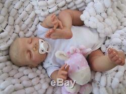 Smooth Vinyl Reborn Baby Doll British Artist Handpainted 22 Sunbeambabies Hsp