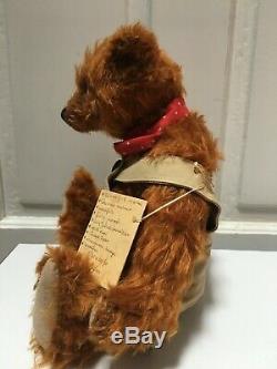 Superb OOAK Artist Mohair Teddy Bear Bears Marjoleine Diemel EDDIE Vintage Lk13