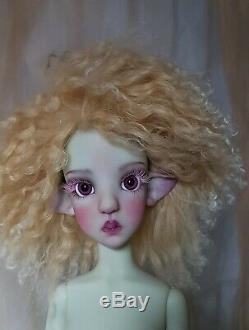 THISTLE Kaye Wiggs Artist Faceup Resin SD BJD Doll Gray