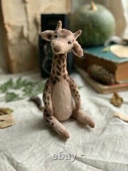 Teddy Handmade Interior Toy Collectable Gift Animal OOAK Giraffe Doll Decor Bear
