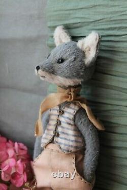 Teddy Handmade Toy Collectable Gift Animal Doll OOAK Sea Wolf Decor Sailor