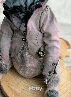Teddy Handmade Toy Gift OOAK Doll Bear Rabbit Hare Bunny Alice in Wonderland