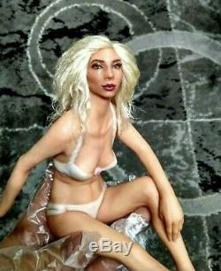 Unique Sexy Ooak Doll Miniature Pin Up Sculpture Fairy Elegant Beach Lady