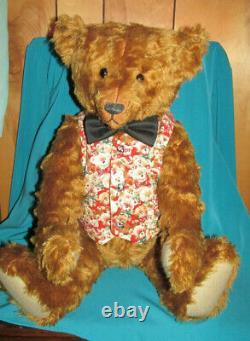Vintage 24 in. Mohair Atlantic Bear by Wendy & Alan Mullaney of Scotland
