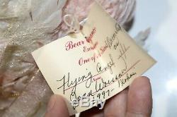 Vintage Angel Original Joan Woessner Artist Teddy Bear Pink Mohair 1997