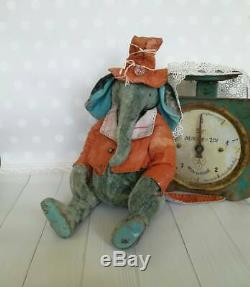 Vintage Elephant Homeless style Antique teddy Antique toys Plush teddy Elephant