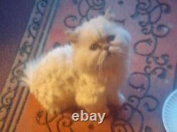 Wooly Cute! Needle Felted Animals Cat Handmade Memorial 100% Made To Order