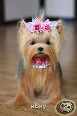 Yorkshire terrier. Size 38cm. Realistic toy. Dog. Puppy
