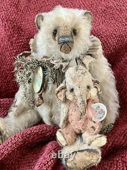 10 Shabby Mohair Artist Bear Par Wendy Meagher De Whendi's Bears Ooak Creation