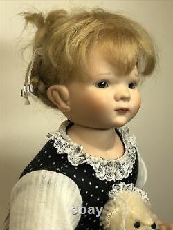 11 Artist Doll Porcelain & Cloth Marie Par Gaby Scholtz #125 Sweet Blond Girl #l